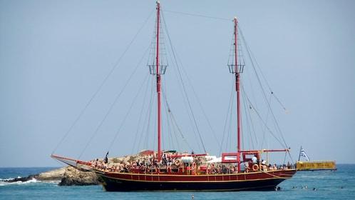 Pirate cruise on Crete Island