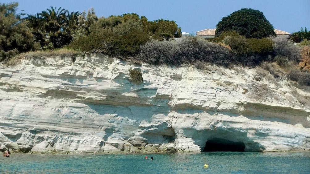 Coastal cave on Crete Island
