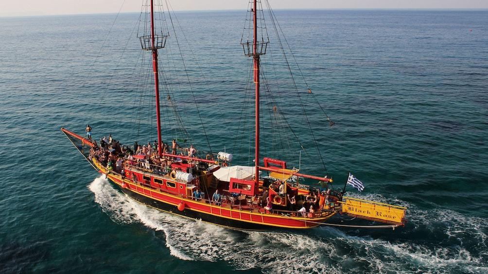 Show item 1 of 10. Pirate cruise off the coast of Crete Island