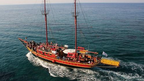 Pirate cruise off the coast of Crete Island
