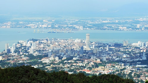 Panoramic view of the city and coast in Penang