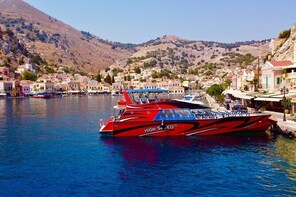 Faliraki to Symi Island by Fast Boat with Swim Stop in St Georges Bay