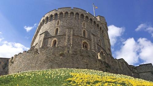 old castle wall in London