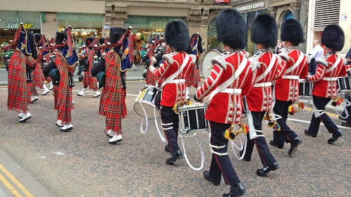 marching band on the street in London