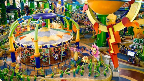 Brightly colored theme park