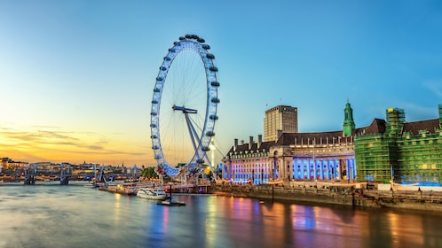 London Eye and the River Thames in London