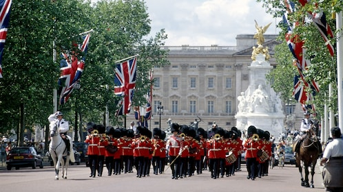 Changing of the Guards outside Buckingham Palace in London