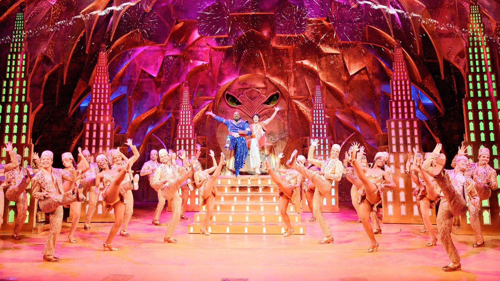 main performers R the center of dancers on stage in London