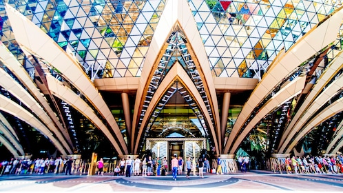 the entrance to the Grand Lisboa in Macau