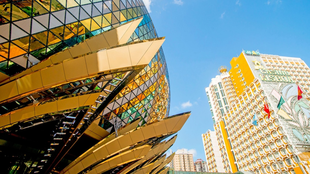the glass dome of the Grand Lisboa building in Macau