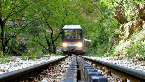 train running on the tracks in Athens