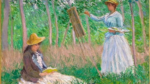 Painting at the Giverny & Monet's Home Tour in Paris