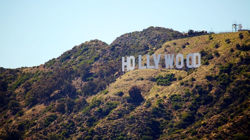 Famous Hollywood sign in the hills of California