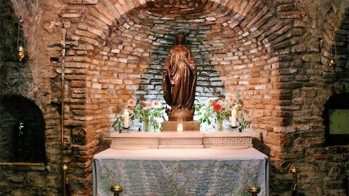 Shrine to the Virgin Mary at The House of the Virgin Mary in Istabul