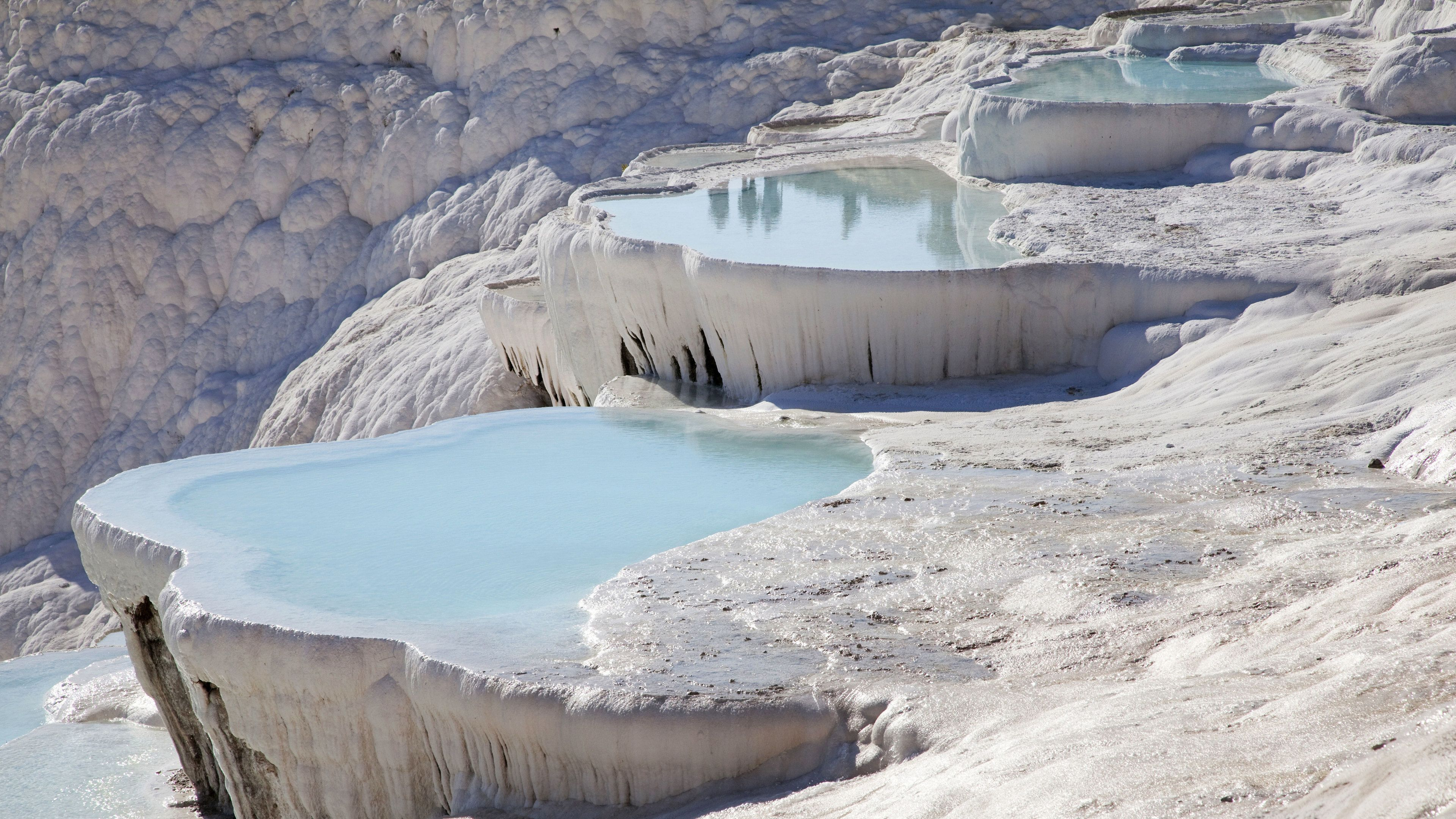 Multi-level hot spring pools in Pamukkale