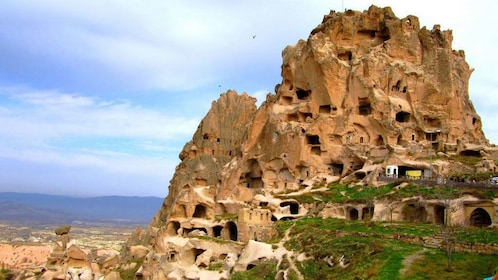 Dwellings carved into the rocks of Cappadocia