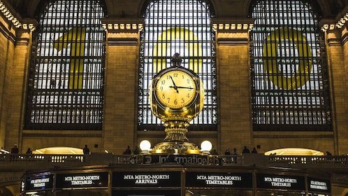 Close up of Grand Central Station clock.
