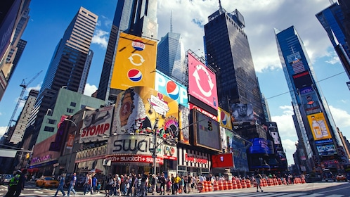 Street view of Times Square.