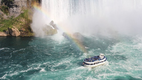 Tour boat passing through Niagara.