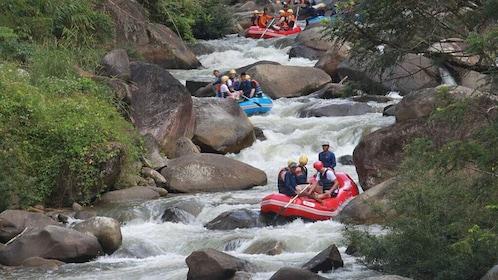 Rafting 5km, ATV 30 Mins, Fly Fox & Jungle Tour From Phuket