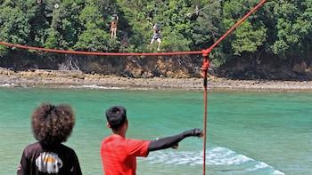 Coral Flyer Flying Fox Ride at Sapi Island