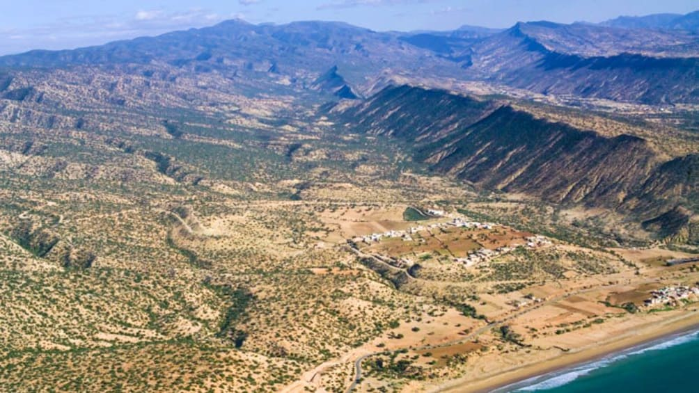 Aerial view of Atlas Mountains.