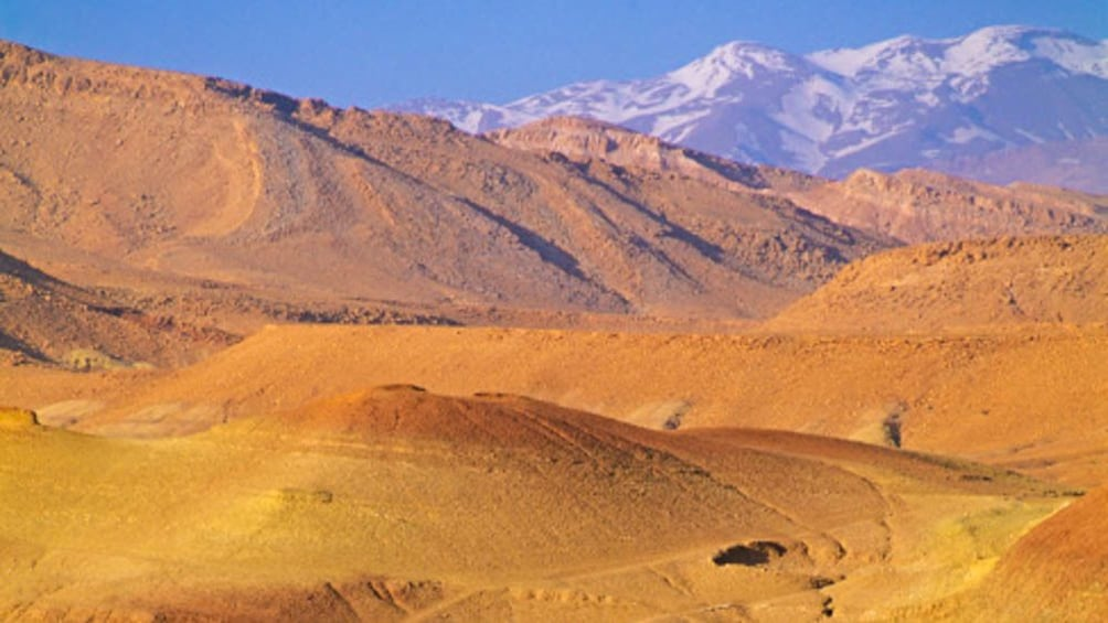 Aerial landscape view of Atlas Mountains.