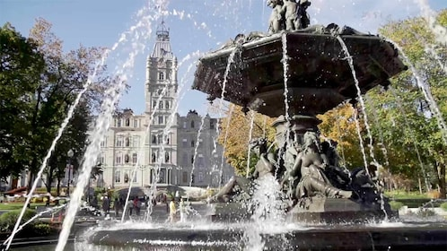 Fountain in Quebec