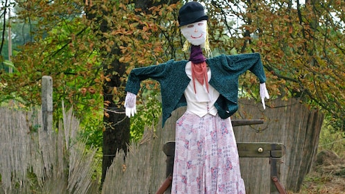 scarecrow on farm property in Budapest