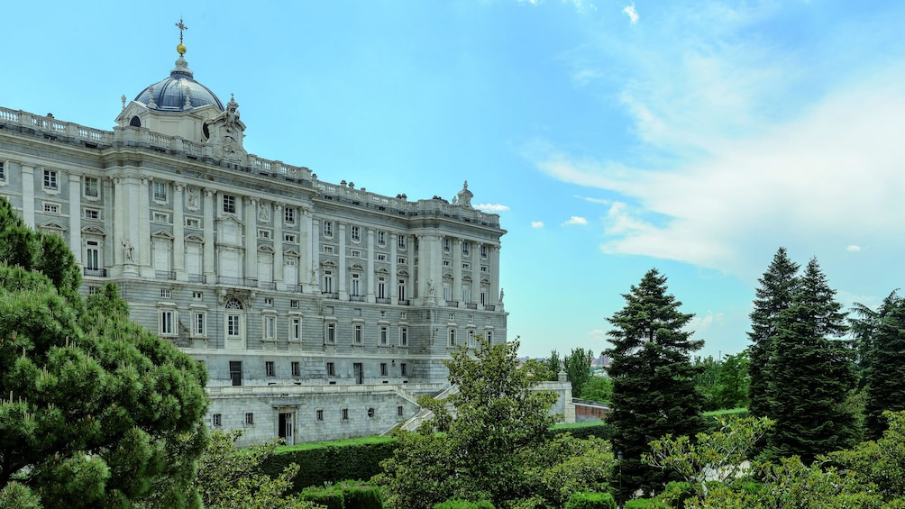 Öppna foto 5 av 6. Royal Palace of Madrid surrounded by trees