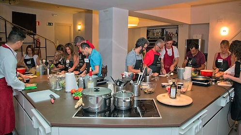 A Paella and Tortilla and Sangria Cooking class in Madrid