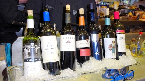 a row of iced wine in Madrid