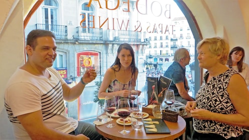 wine and cheese tasting in Madrid