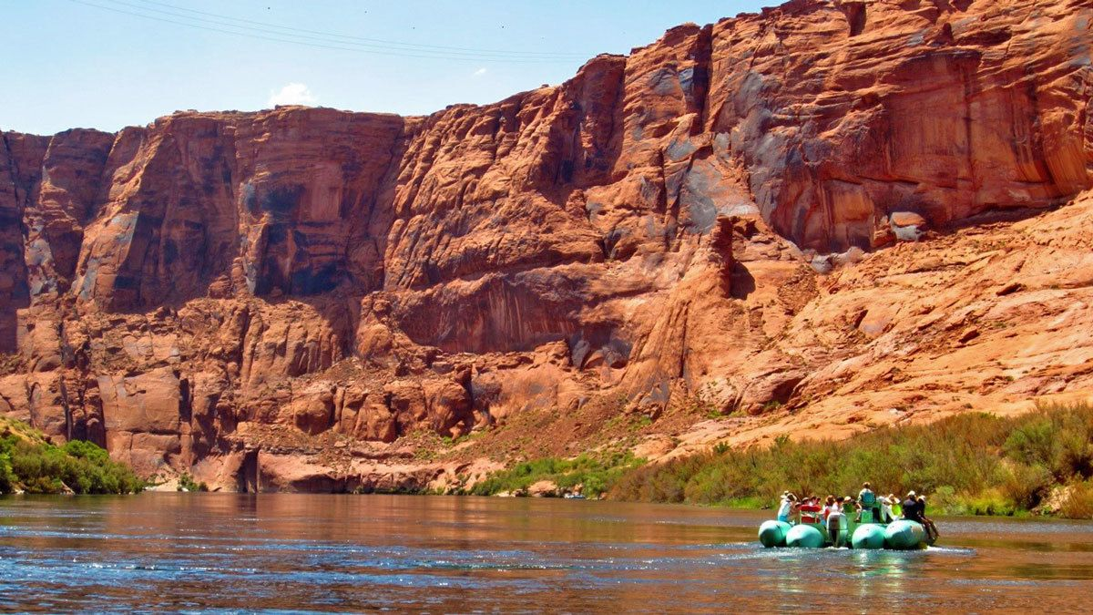 inflatable raft on the river in Colorado
