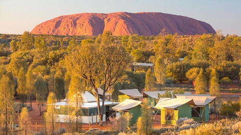 Sunset overhead view of Alice Springs
