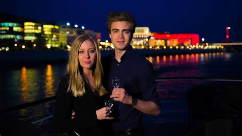 Couple enjoying some drinks in Budapest