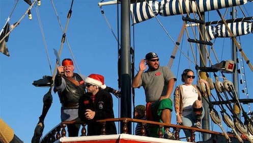 Group on a pirate ship on Clearwater in Orlando