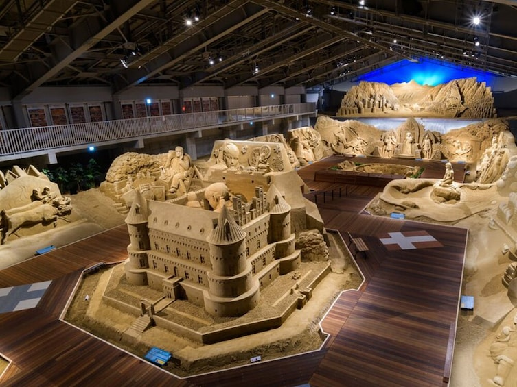 Show item 5 of 8. Visit the Sand Museum, see the world traveling theme statues