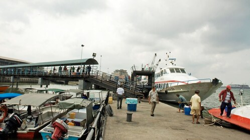 ships at dock in Kuala Lumpur