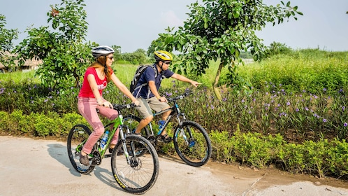 Couple on a relaxing Langkawi Nature Cycling HD Tour in Malaysia
