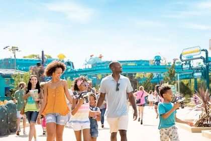 Family at SeaWorld San Diego on a clear sunny day