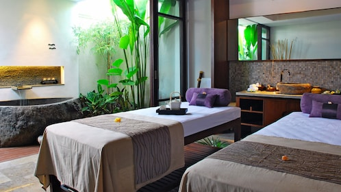 Spa beds in Bali