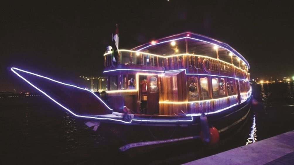 Show item 1 of 8. Dhow Cruise at Dubai Creek with Dinner with Gray Line