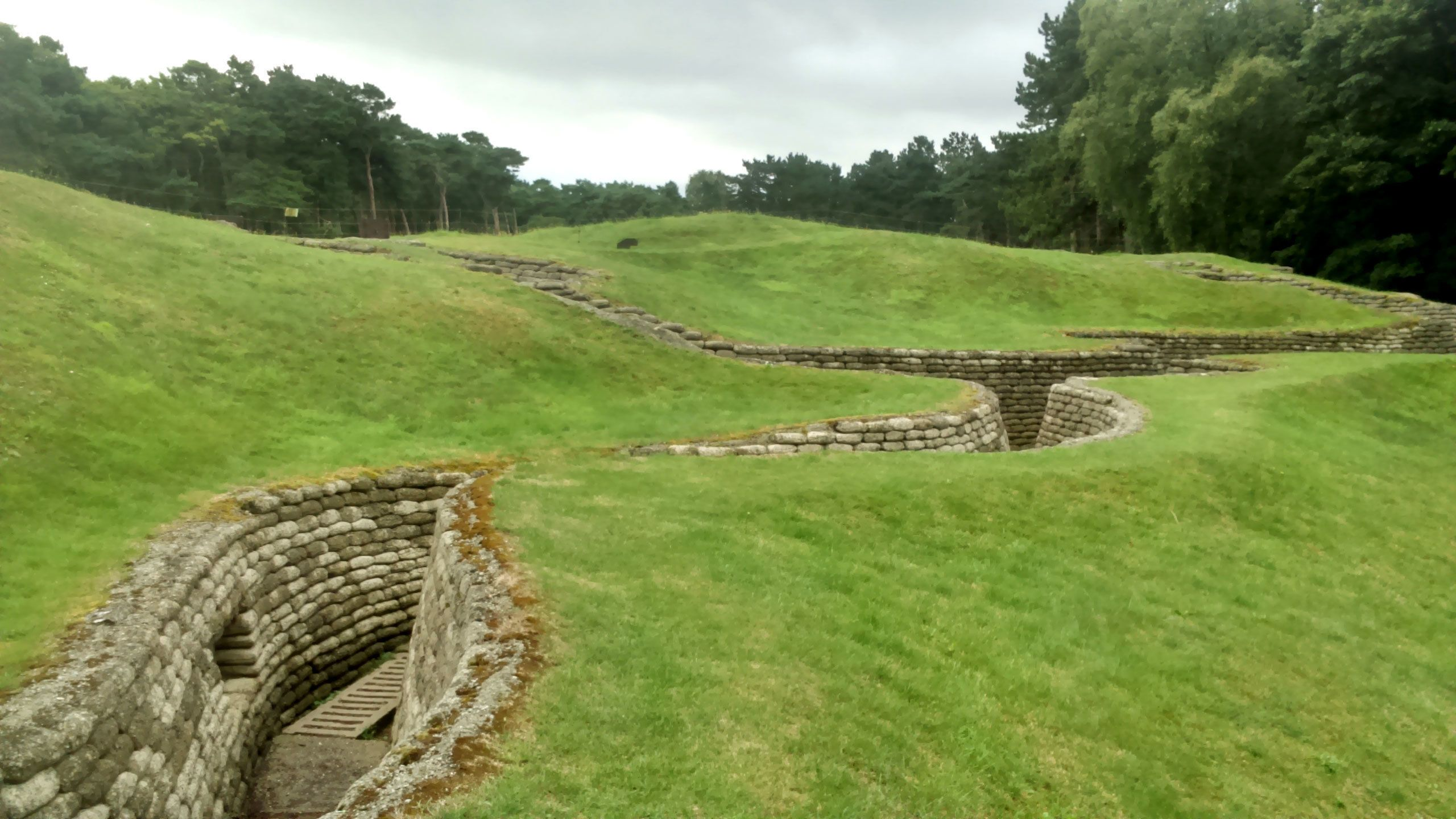Trenches through a field in Belgium