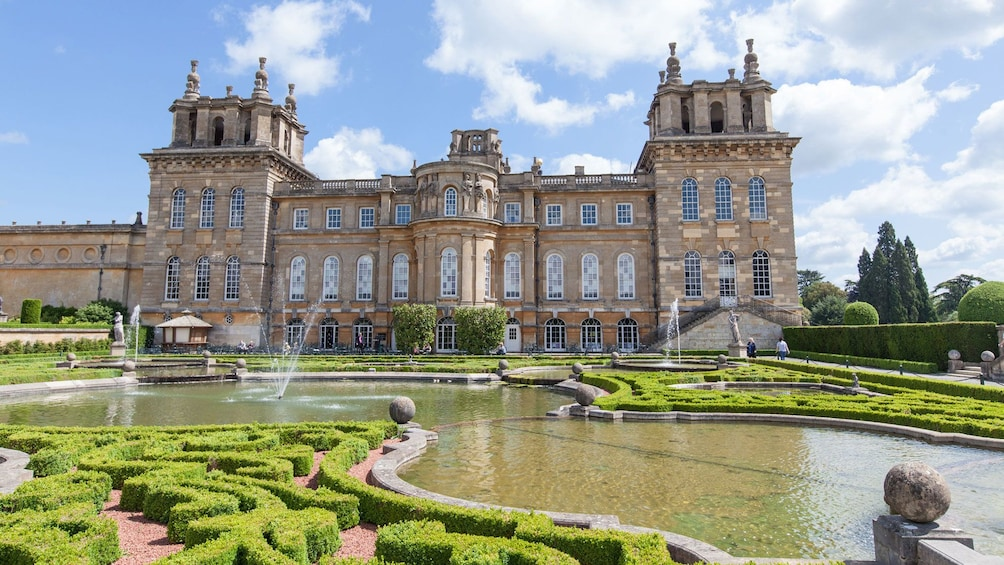 Show item 1 of 9. Blenheim Palace, fountains and sculpted garden