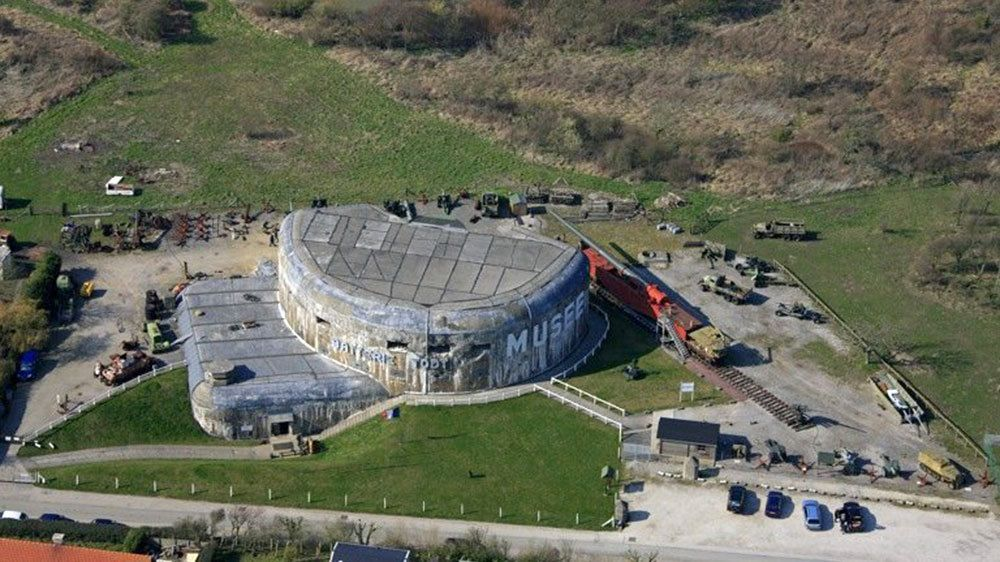 Aerial view of a military museum