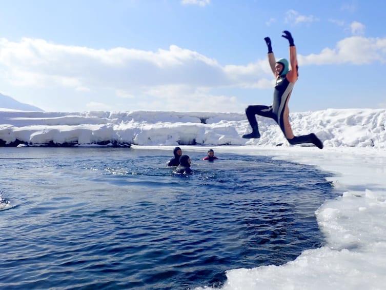 Show item 5 of 5. Ice Walking on Hokkaido's Lake Shikotsu