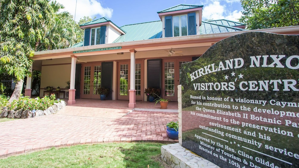 outside of the visitor center at the Cayman Islands