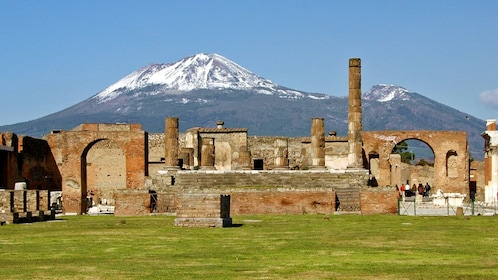 visiting the ruins of Pompeii