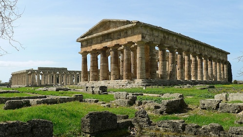 Ruins of a temple in Paestum